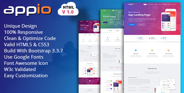 What is the best HTML5/Javascript template for an app landing page ...
