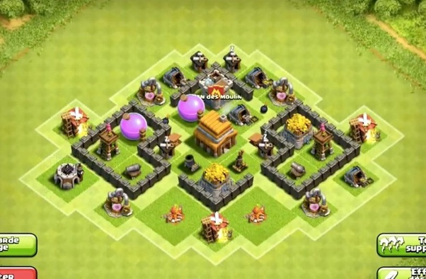 Base Coc Th 4 War 10