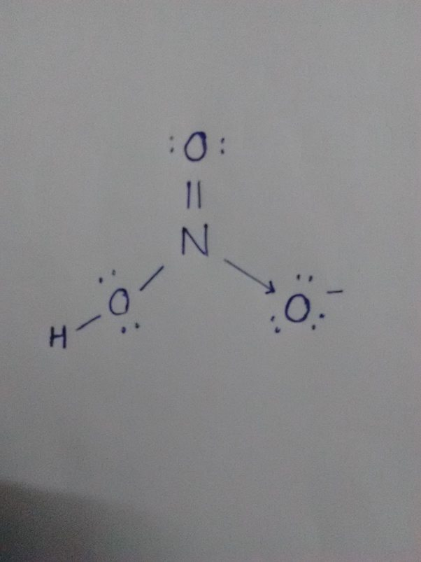 How Is The Lewis Dot Structure For Nitric Acid Determined