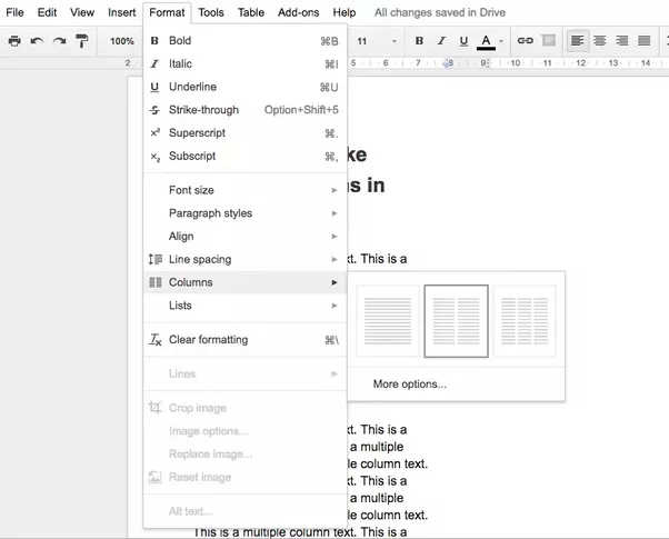 How To Make Multiple Columns In Google Docs Quora - Google docs columns
