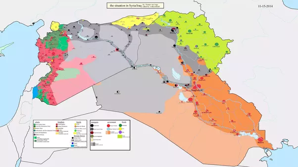 most of those blank areas in the east of syria are under the passive control of isis but its irrelevant