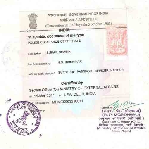 Which is the best way to get an apostille on PCC in India