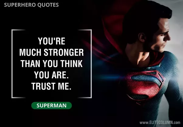 What Is The Best Superhero Movie Quote?