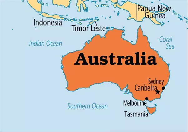 geography the australian continent Geography of australia australia australia australia is both a continent and a country the continent lies about 2,000 miles southeast of asia and is surrounded by the pacific ocean on the east and the indian ocean on the west.