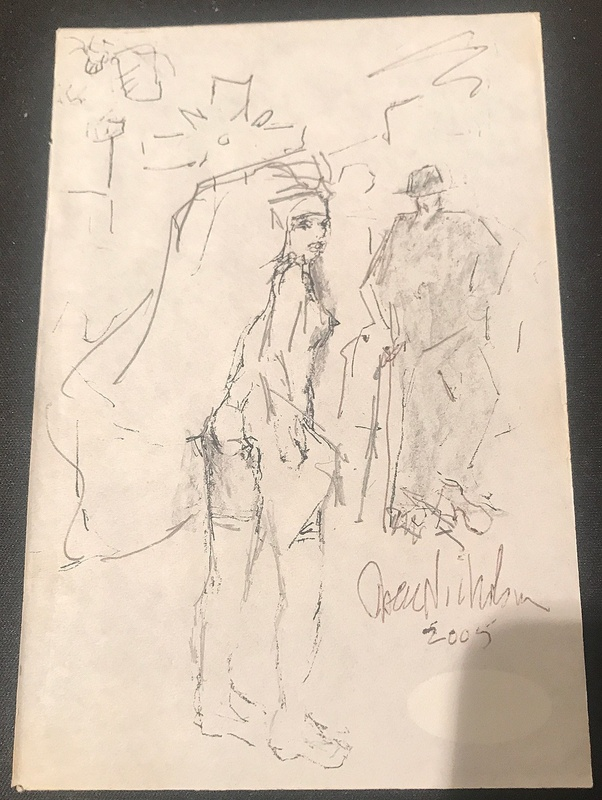 The Departed What Is The Drawing That Costello Gives To The 2 Priests At The Diner Quora