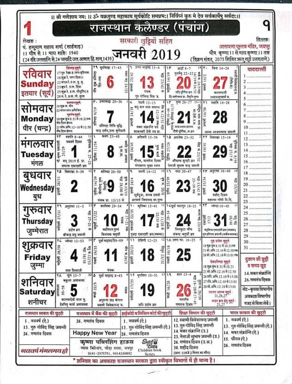 How does the Hindu calendar work? - Quora