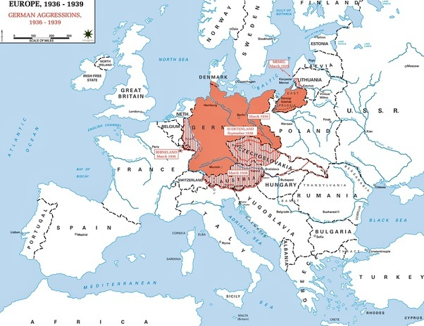 Could France And Britain Have Prevented WW Quora - France germany map
