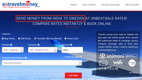 How To Transfer The Money From India Sweden What Is