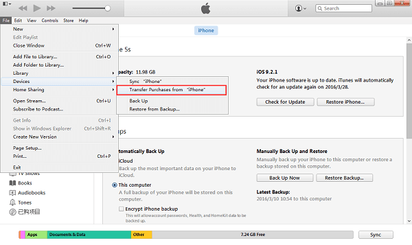 How to Transfer iPhone iPad Purchases to iTunes on PC/Mac
