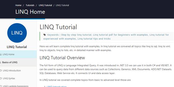C# programing tutorial linq examples youtube.