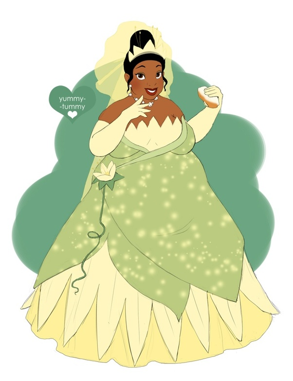 What would Disney princesses look like if they were fat ...