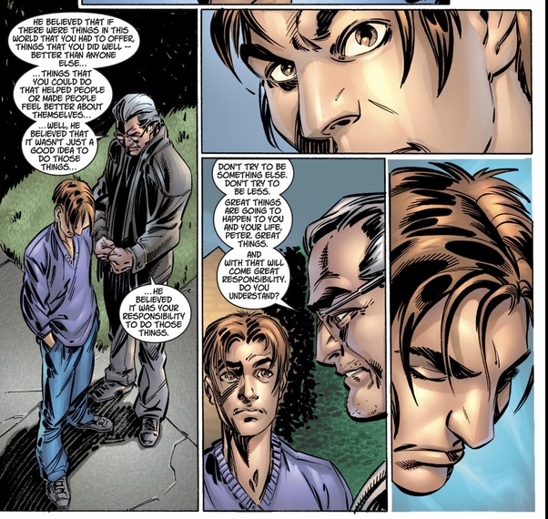 What Issue Of Amazing Spider Man Was It That Actually Retconned That Uncle Ben Said The Great Responsibility Line Quora