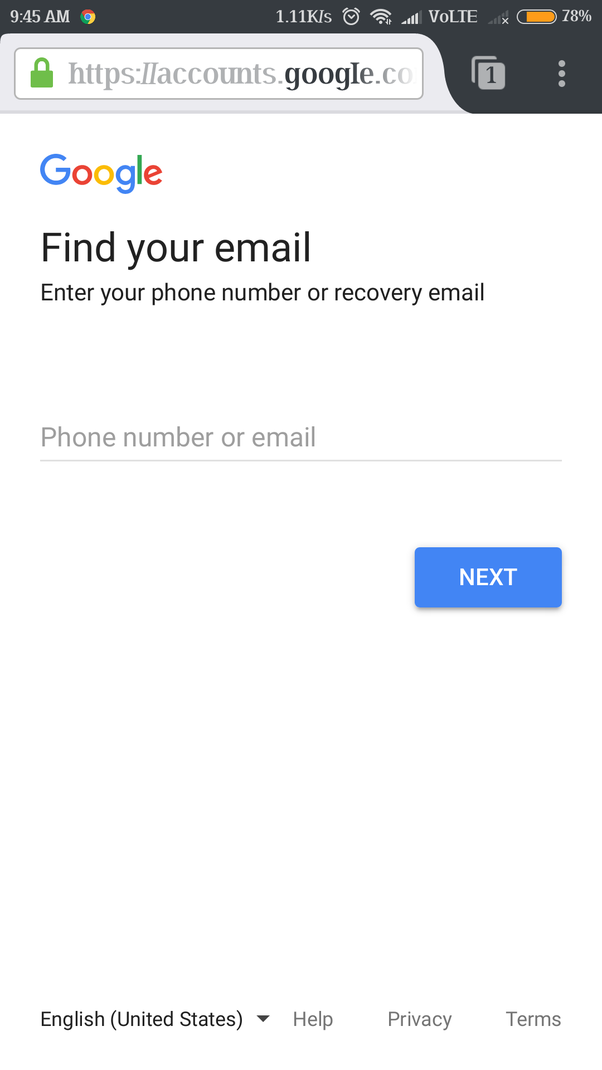 find e-mail address with phone number