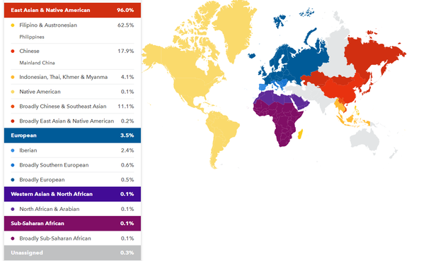 Image result for filipino ancestry dna