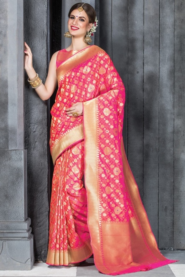 086a58a5f0 Banarasi Silk Saree: Banarasi sarees are one of the finest silk sarees.Gold  and silver brocade being their best versions, Banarasi sarees are a  must-have in ...