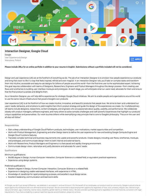 Does Google Hire Entry Level Ux Designers Quora