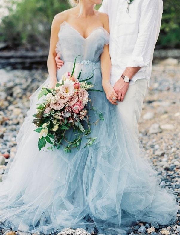 Can a bride wear a sky blue dress on her wedding? - Quora