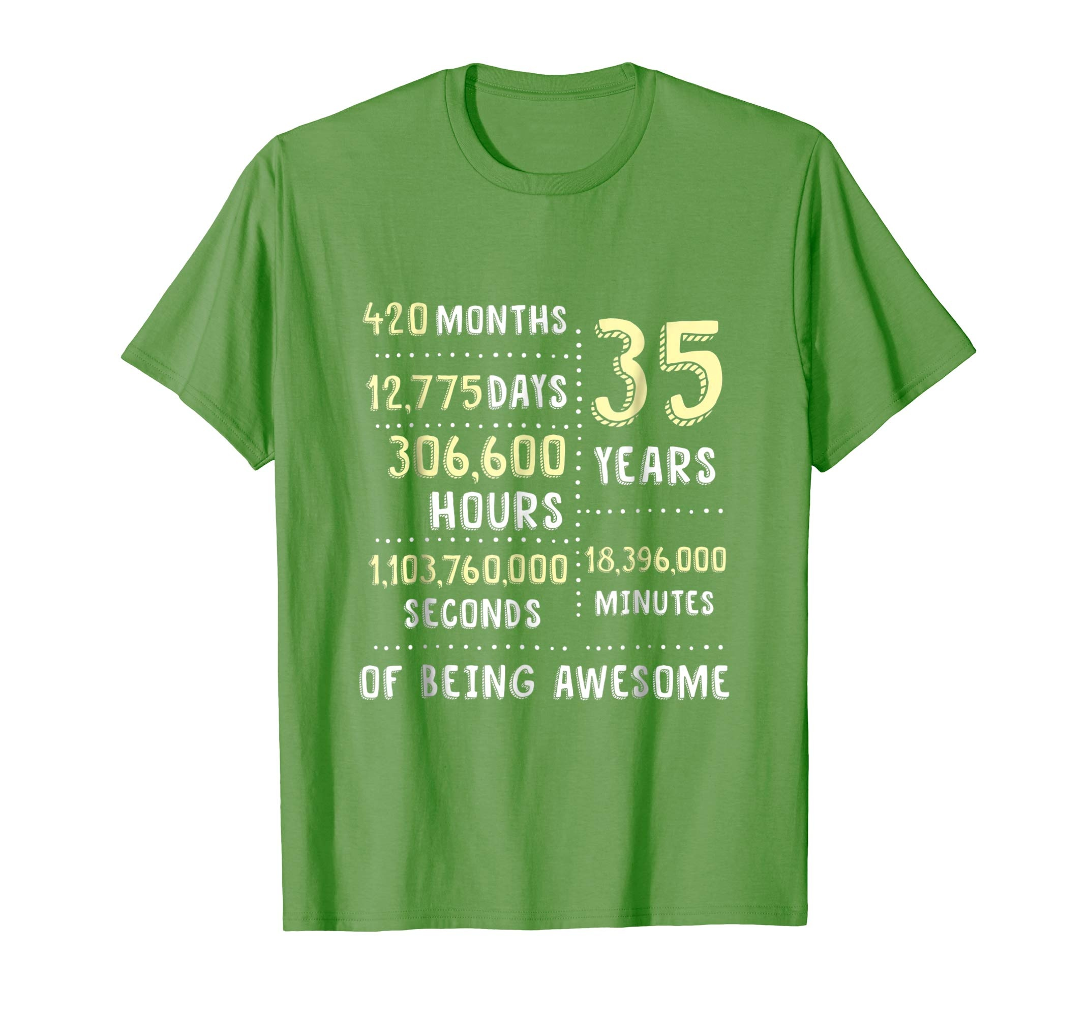 Amazon 35th Birthday Gift T Shirt B Day 35 Year Old Being Awesome Clothing