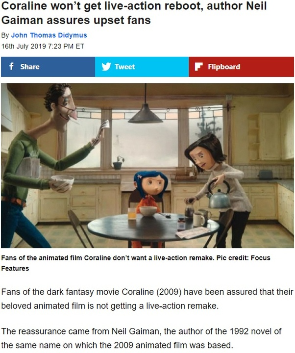Who is making the live action Coraline movie? - Quora
