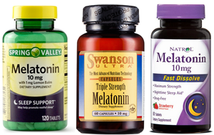 Most melatonin pills are sold in 3 mg, 5 mg, or 10 mg doses. The green  bottle on the left has 120 pills (1.2 grams/bottle) and the two on the  right have ...