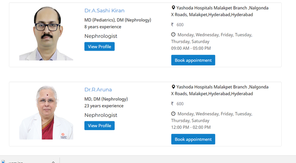 Who is the best nephrologist in Hyderabad? - Quora