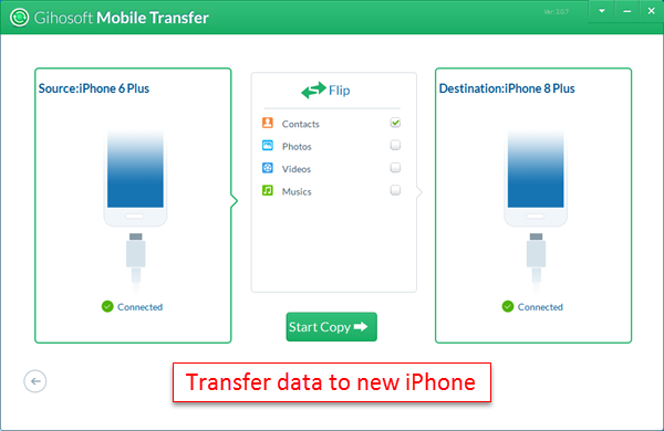 what is the easiest way to transfer data from one iphone to another
