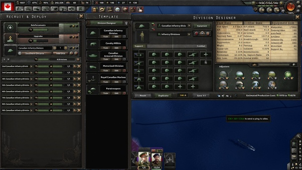 What would be the best division template in Hearts of Iron 4
