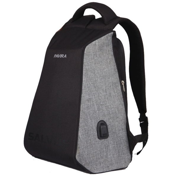 494f8be49929 This backpack is available in two colors. Grey and black