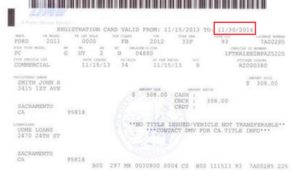 Get New Car Registration From Dmv In California