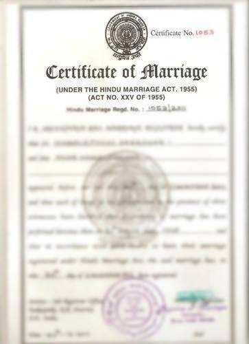 What is the full procedure of court marriage quora marriage certificate a marriage certificate the evidence of the court marriage is issued by the officer signed by both the parties couples and altavistaventures Images