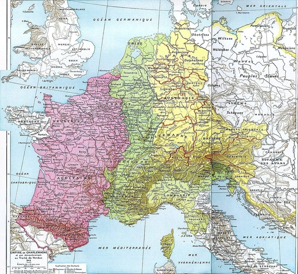 What is the origin of modern France and Germany, as in how did the