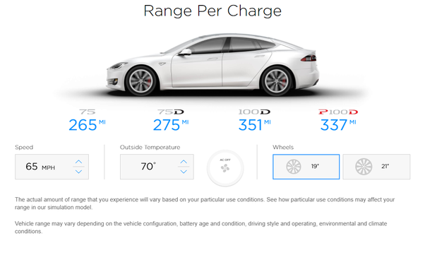 Tesla How Many Miles Per Charge