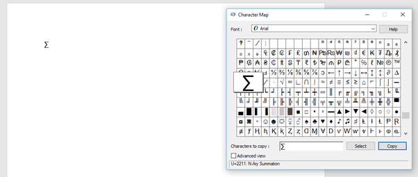 How To Insert A Sigma Symbol Into A Word Document Quora
