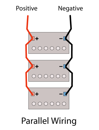 how to connect the wires to my kick starter in my truck that uses 3 rh quora com Connecting 12V Batteries Together Wiring Batteries in Series 3