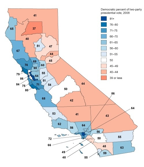 Map Of California Election Results.Does The Electoral College Really Give A Kind Of Equalization Of