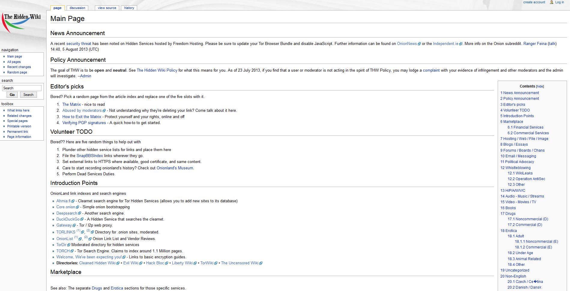 darknet sites wiki