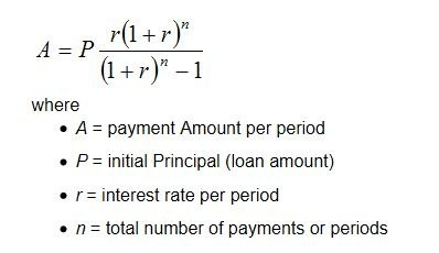 how to calculate the monthly amount of both principal and interest