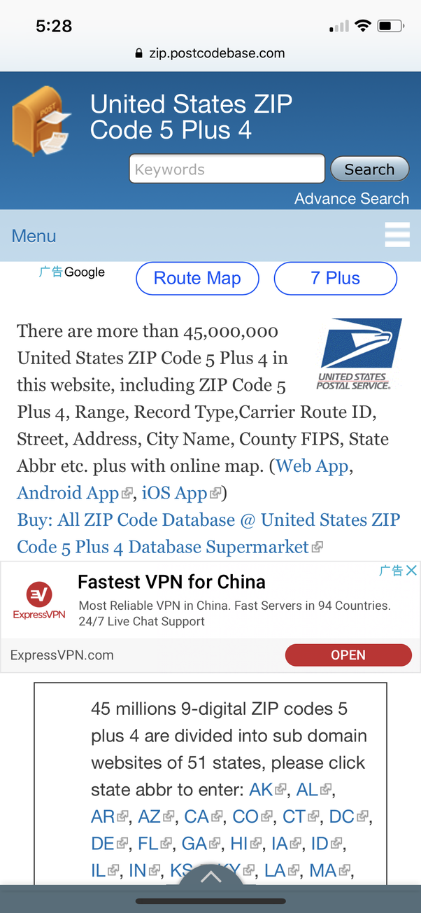 How to find the Zip+4 code if I know the five digit Zip code