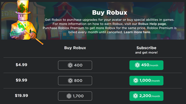 How Much Does Robux Cost Quora