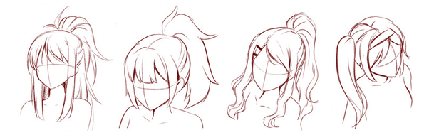 how to draw wavy hair anime
