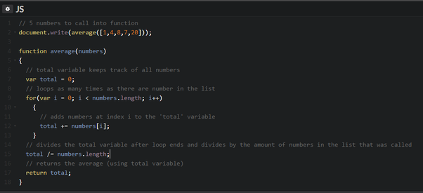 How to write a BASIC program to find the average of five