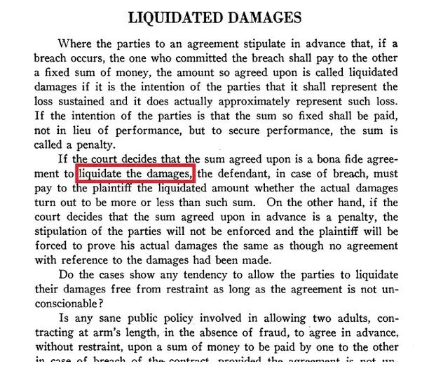 Liquidating damages defined