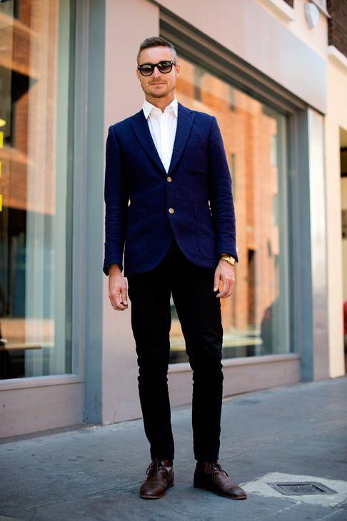 navy blazer black pants Can you wear black pants with a navy blazer? - Quora