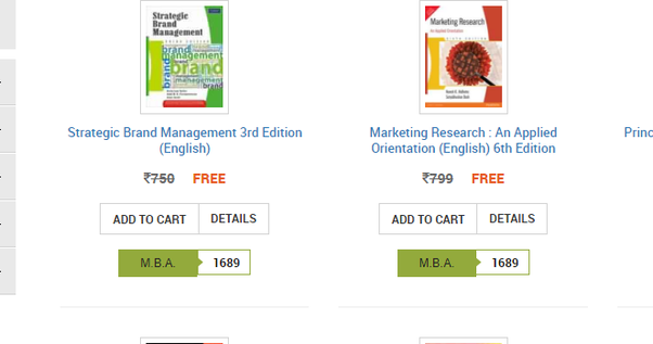 What are the books IIM A, B, and C follow for finance