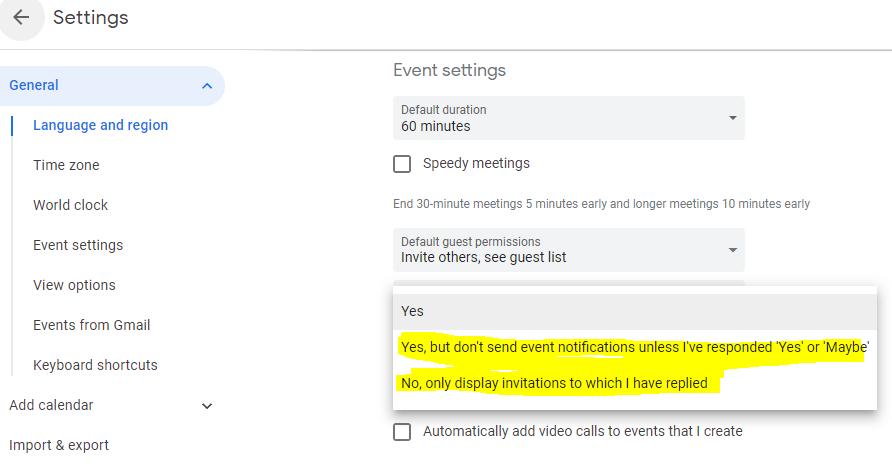 How to block all Google calendar invites - Quora