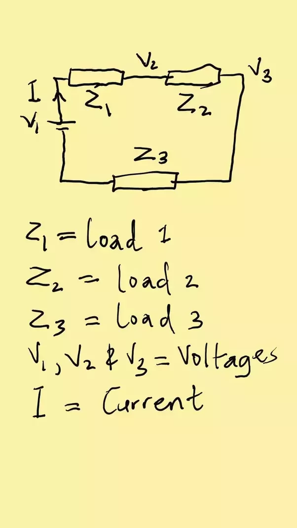 What is the formula for voltage drop in series circuit ...