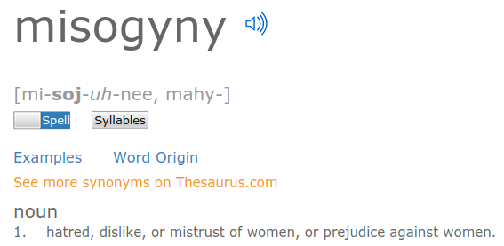 Synonym for sexist