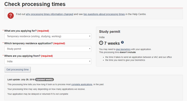 What is the Canadian student visa processing time? - Quora
