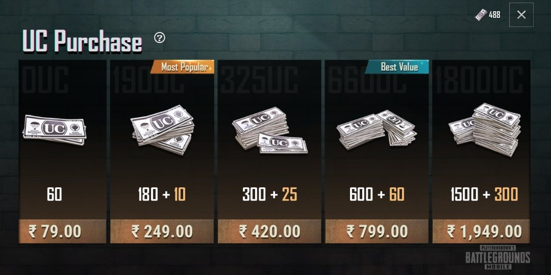 What is the actual cost of 100 UCs in PUBG Mobile? - Quora
