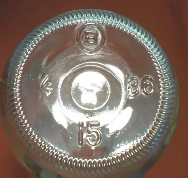 Why do all glass bottles have textured bottoms quora for How to break bottom of glass bottle